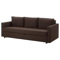 FRIHETEN Sofá cama 3 plazas, SKIFTEBO marrón