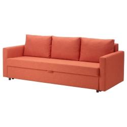 FRIHETEN Sofá cama 3 plazas SKIFTEBO naranja oscuro