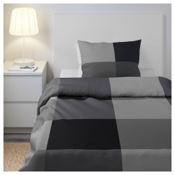 BRUNKRISSLA Quilt cover twin and pillowcase