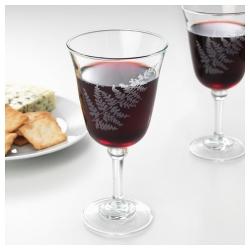 FRAMTRÄDA Copa de vino, vidrio con motivo floral, 30 cl