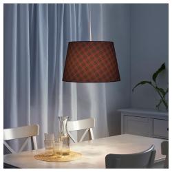 RYRA Pantalla para lámpara cuadros rojo/azul 44 cm