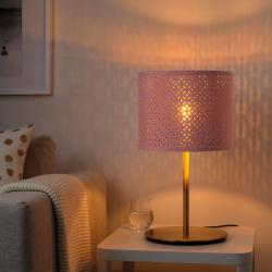 NYMÖ Pantalla para lámpara rosa/bronce 32 cm