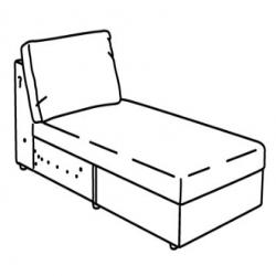 FINNALA Armazón módulo chaise longue