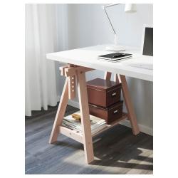 LINNMON/FINNVARD Mesa de escritorio 150x75 cm con caballete de altura regulable