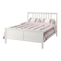 HEMNES King bed, frame and LURÖY slatted bed base