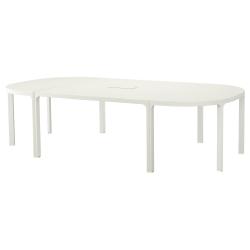 BEKANT Mesa de reuniones 280x140 cm blanco