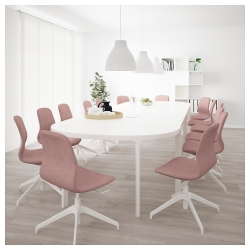 BEKANT Mesa de reuniones 420x140 cm blanco