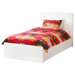 MALM Estruc cama 90 blanco + 2caj
