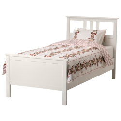 HEMNES Twin bed frame with Lönset slatted