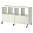 KALLAX Shelving unit/4 doors/castors