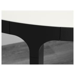 BEKANT Mesa de reuniones 140x140 cm blanco/negro