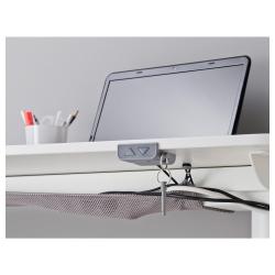 BEKANT Combinación escritorio oficina 2 puestos con separador 55 cm blanco/blanco