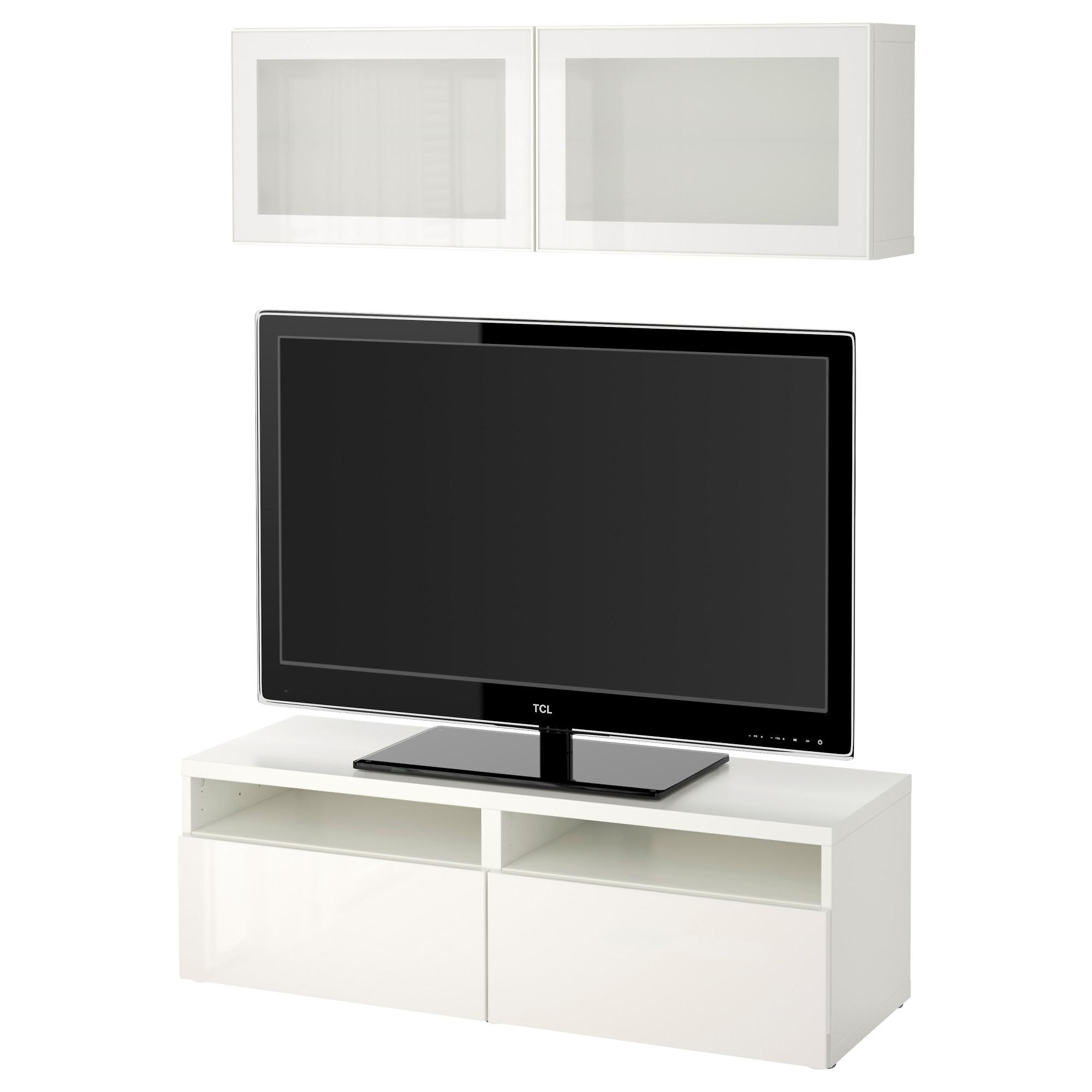 BESTu00c5 TV storage combination/glass doors