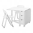 NORDEN Mesa y 2 sillas plegables