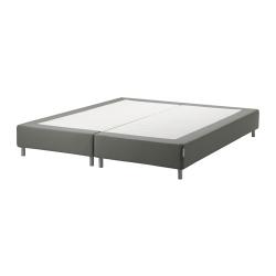 ESPEVÄR Base para colchón 180 con patas BJORLI 10cm, funda gris