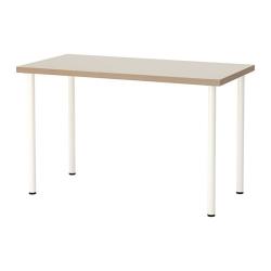 LINNMON/ADILS Mesa de escritorio 120x60 cm beige/blanco