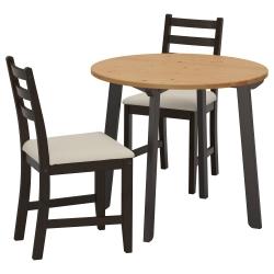 GAMLARED/LERHAMN Mesa y dos sillas