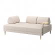 FLOTTEBO Sofá cama 3 pl con mesa auxilia, LOFALLET beige