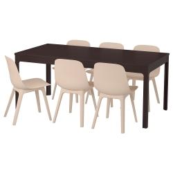EKEDALEN/ODGER Mesa y 6 sillas
