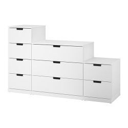 NORDLI Chest of 9 drawers