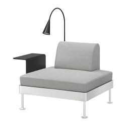 DELAKTIG Sillón+mesa auxiliar+lámpara