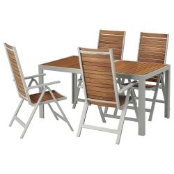 SJÄLLAND Mesa+4 sillas reclinables, ext