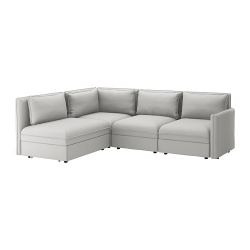 VALLENTUNA Sofá modular esquina 3+sofá cama
