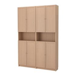 BILLY/OXBERG Librería/mód extens alt/puerta