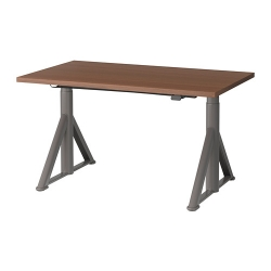 IDÅSEN Escritorio profesional sentado/de pie 120x70 cm marrón/gris