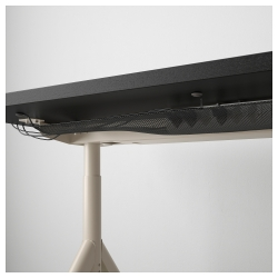 IDÅSEN Escritorio profesional 120x70 cm negro/beige