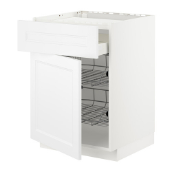 METOD/MAXIMERA Armario bajo placa cajón y 2 cestos