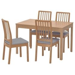 EKEDALEN/EKEDALEN Mesa con 4 sillas