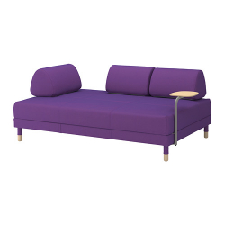 FLOTTEBO Sofá cama +mesa auxiliar