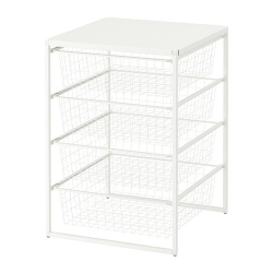 JONAXEL Estructura organización 50x51x70 cm con cestos rejilla ancha y estante superior