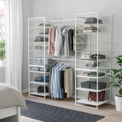 JONAXEL Estructura organización 142x51x173 cm con cestos, barras y estantes