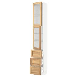SEKTION/MAXIMERA High cb w 2 glass drs/3 drawers