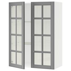 SEKTION Armario pared+2 puertas de vidrio
