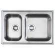 BOHOLMEN Double-bowl inset sink