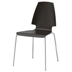 VILMAR Silla, gris/negro