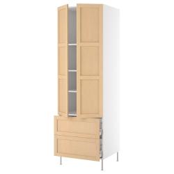 AKURUM Armario alto+estantes/2 cajones