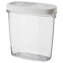 IKEA 365+ Bote plástico con tapa, 1.3lt