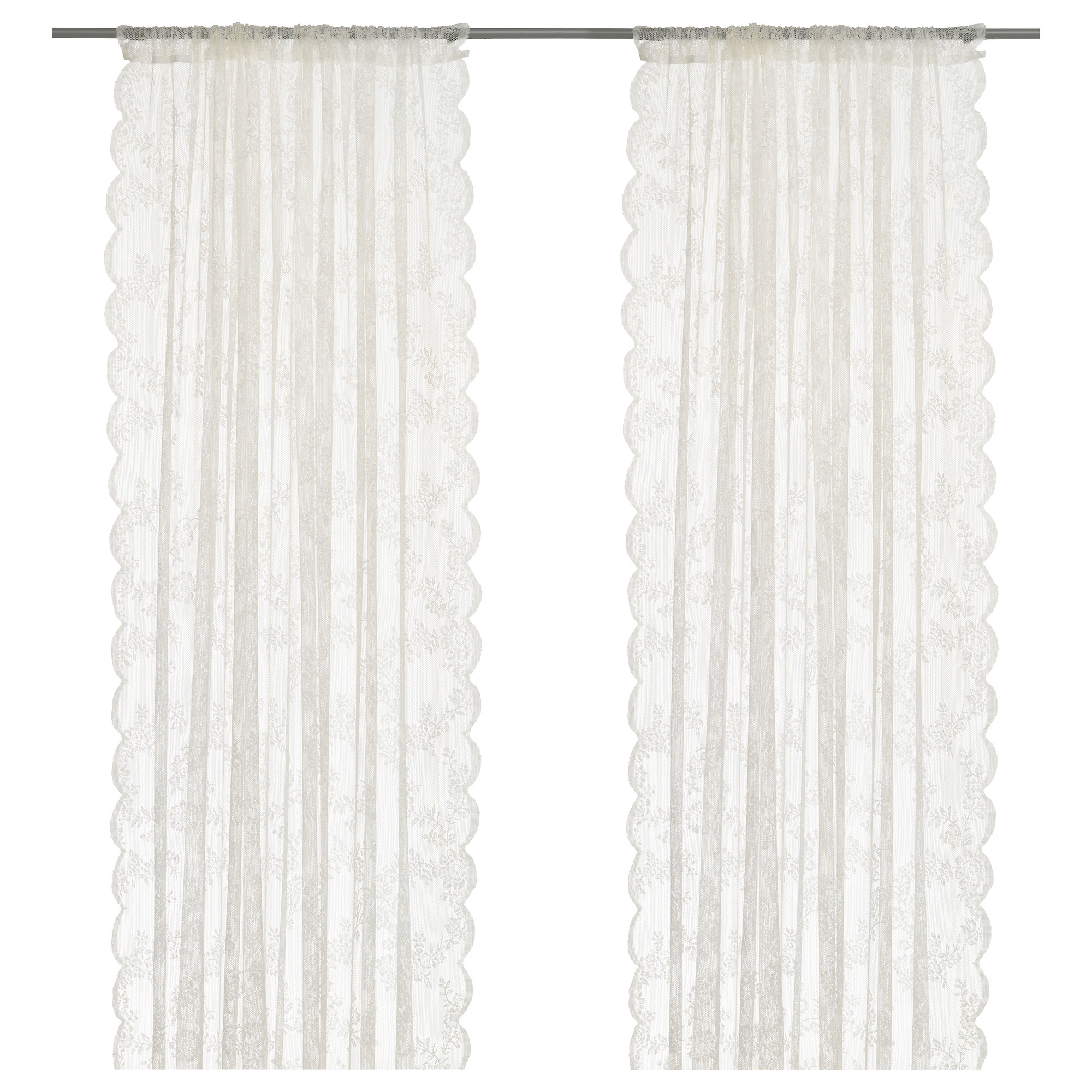 Alvine spets par de cortinas - Cortinas exterior ikea ...