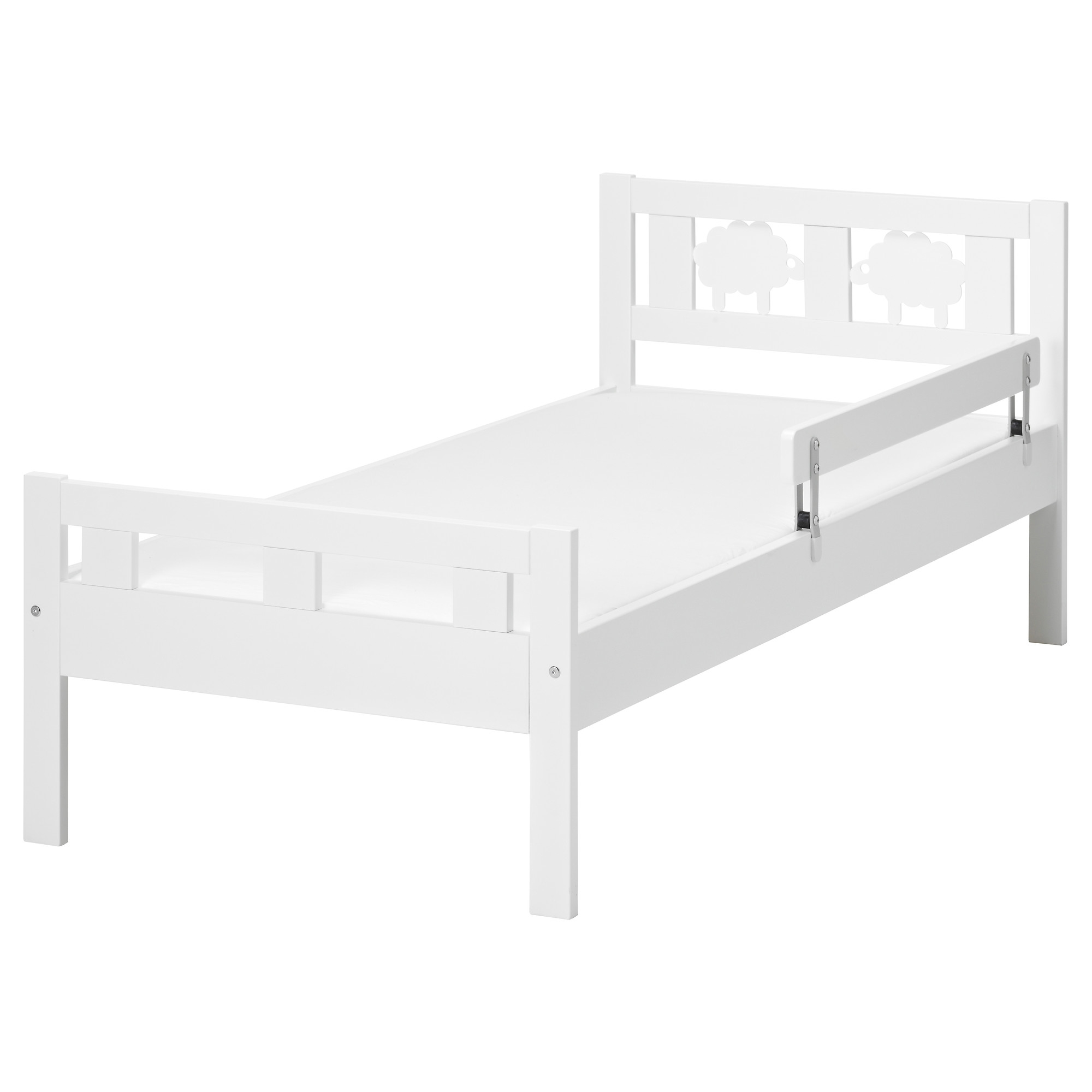 KRITTER Estructura cama y barandilla blanco
