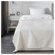 INDIRA Colcha para cama individual 150x250 cm blanco