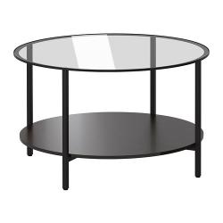 VITTSJÖ Mesa de centro 75 negro/vidrio