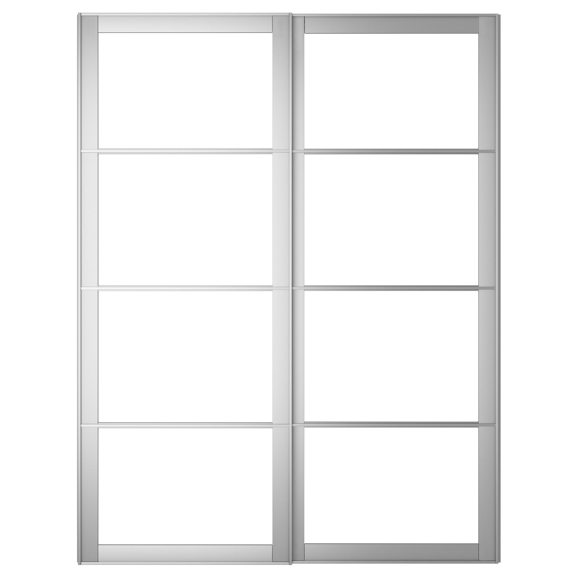 Pax Auli Pair Of Sliding Door Frames W Rail