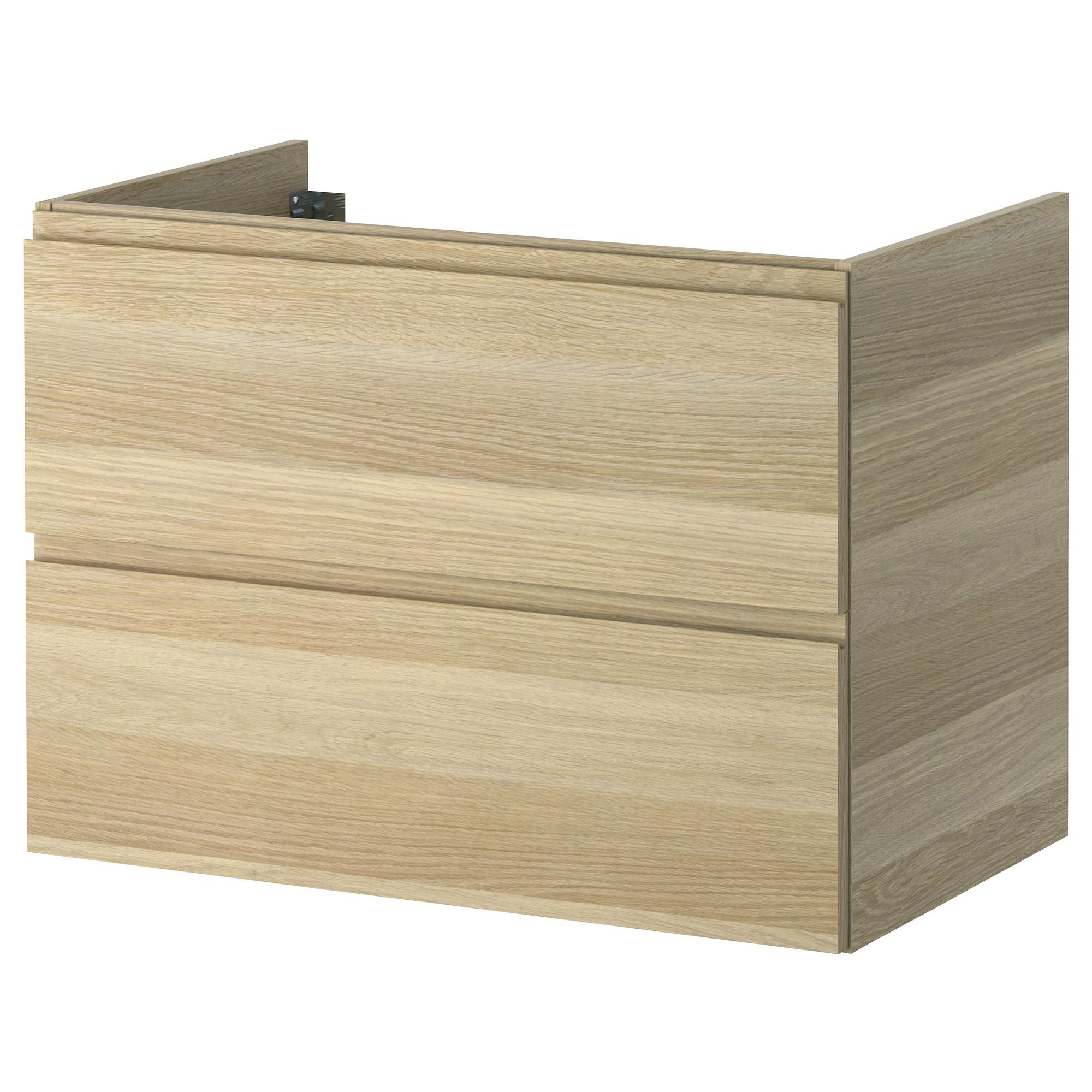 godmorgon armario lavabo 2 cajones 80 tinte roble. Black Bedroom Furniture Sets. Home Design Ideas