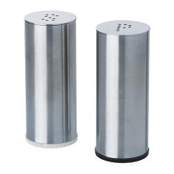PLATS Salero y pimentero, acero inox jgo 2