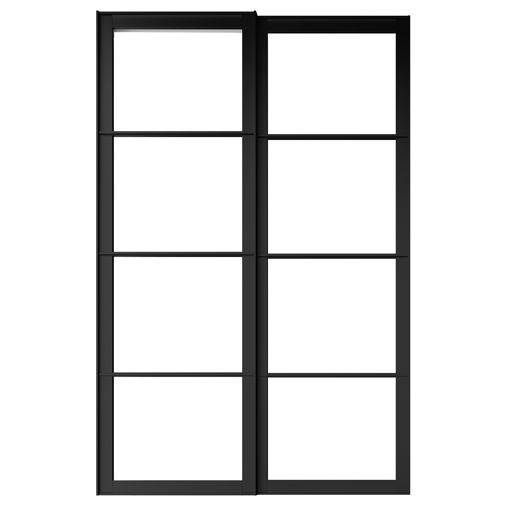 PAX pair of sliding door frames w rail