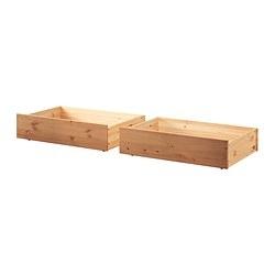 HURDAL Caja de almacenaje para cama